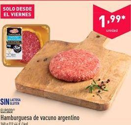 Oferta de Hamburguesas de vacuno argentino EL POZO por 1.99€