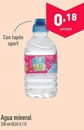 Oferta de Agua mineral  por 0.18€