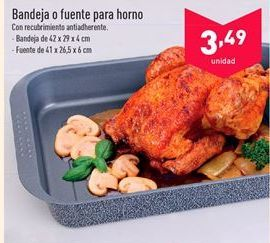 Oferta de Bandeja o fuente para horno  por 3.49€