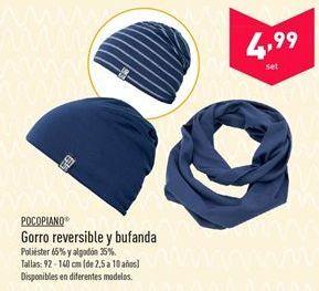 Oferta de Gorro reversible y bufanda Pocopiano  por 4.99€