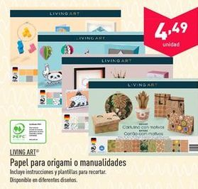 Oferta de Papel para origami o manualidades  por 4.49€