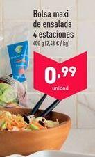 Oferta de Bolsa maxi de ensalada 4 estaciones  por 0.99€
