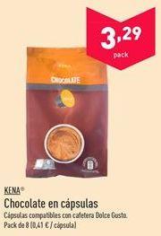 Oferta de Chocolate en cápsulas KENA por 3.29€