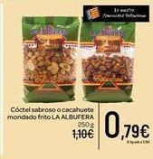 Oferta de Cóctel sabrosos o cacahuete mondado frito LA ALBUFERA por 0.79€