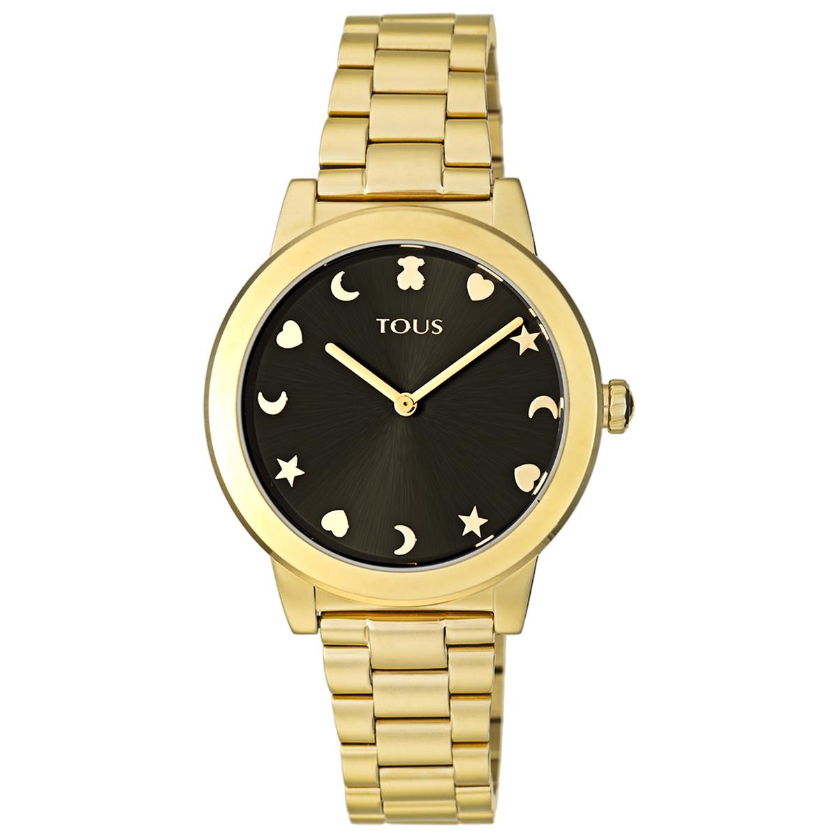 Oferta de Reloj Nocturne de acero IP dorado con esfera negra por 225€