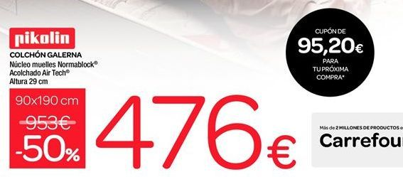 Oferta de Colchones Galerna Pikolin por 476€