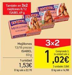 Oferta de Mejillones Isabel por 1.53€