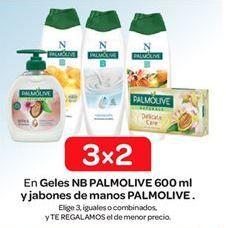 Oferta de En Geles NB PALMOLIVE 600 ml y jabones de manos PALMOLIVE  por