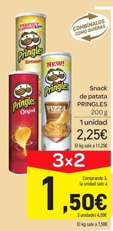 Oferta de Snack patata Pringles por 2.25€