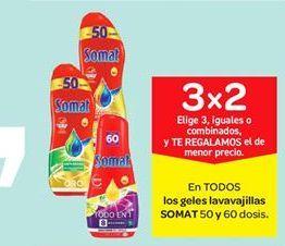 Oferta de En TODOS los geles lavavajillas SOMAT 50 y 60 dosis. por