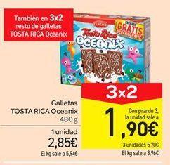 Oferta de Galletas Tosta Rica Oceanix por 2.85€