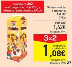 Oferta de Galletas minis Simpson's Arluy por 1.62€