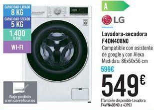 Oferta de Lavadora-secadora F4DN408N0 por 549€