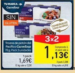 Oferta de Trozos de potón del pacífico carrefour por 1.69€