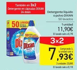 Oferta de Detergente líquido o polvo Dixan por 11.9€
