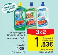 Oferta de Limpahogares TENN Bioalcohol, Aloe Vera o Baño por 2.3€