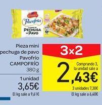 Oferta de Pieza mini pechuga de pavo Pavofrío Campofrío por 3.65€