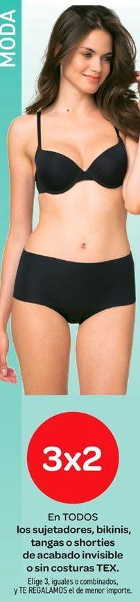 Oferta de En TODOS los sujetadores, bikinis, tangas o shorties de acabado invisible sin costuras TEX por