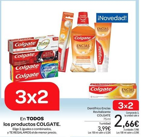 Oferta de Dentífrico Encías Revitalizante COLGATE por 3.99€