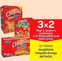 Oferta de Galletas Chiquilín energy Artiach por