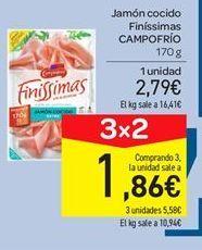 Oferta de Jamón cocido Campofrío por 2.79€