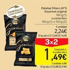 Oferta de Patatas fritas Lay's gourmet original por 2.24€