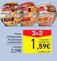 Oferta de Pizza refrigerada pizza y salsa Campofrío por 2.39€