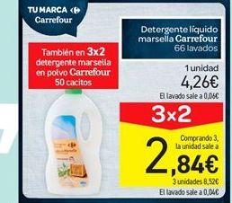 Oferta de Detergente líquido marsella carrefour por 4.26€