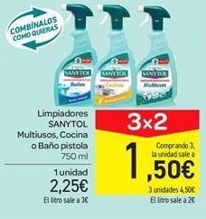 Oferta de Limpiadores SANYTOL Multiusos, Cocina o Baño pistola  por 2.25€