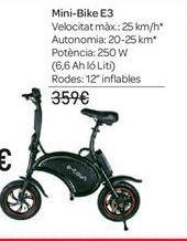 Oferta de Mini-Bike E3 por 259€