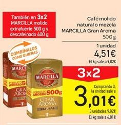 Oferta de Café molido natural o mezcla Marcilla por 4.51€