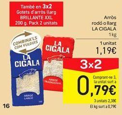 Oferta de Arroz redondo o largo La Cigala por 1.19€
