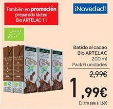 Oferta de Batido de cacao Bio Artelac por 1.99€