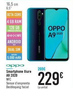Oferta de Smartphone libre A9 2020 por 229€