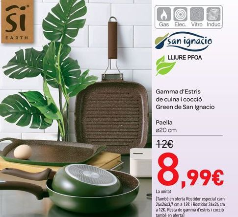 Oferta de Gama de Útiles de cocina y cocción Green de San Ignacio por 8.99€