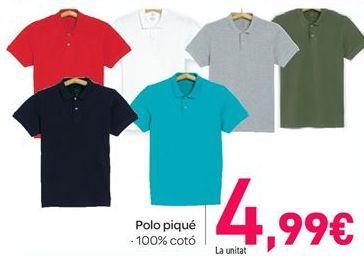 Oferta de Polo piqué por 4.99€