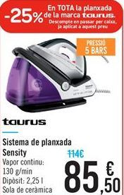 Oferta de Sistema de planchado Sensity por 85.5€