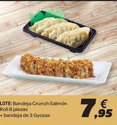 Oferta de Bandeja crunch salmón + bandeja de Gyozas por 7.95€