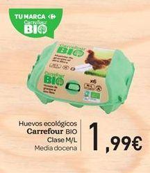 Oferta de Huevos ecológicos carrefour Bio  por 1.99€