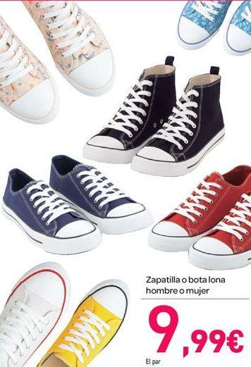 Oferta de Zapatillas o bota lona hombre o mujer por 9.99€