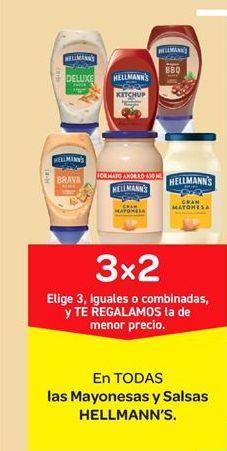 Oferta de Mayonesas y salsas Hellmann's por