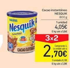 Oferta de Cacao soluble Nesquik por 4.05€