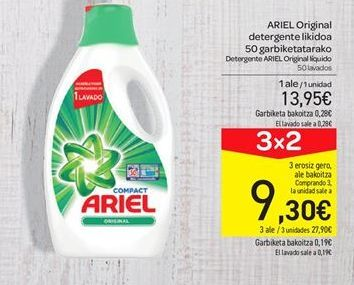 Oferta de Detergente Ariel Original líquido por 13.95€