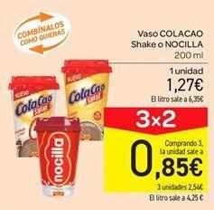 Oferta de Vaso Cola Cao shake o nocilla por 1.27€