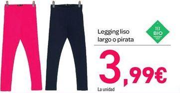 Oferta de Legging liso largo o pirata por 3.99€