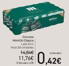 Oferta de Cerveza Mahou clásica  por 11.76€