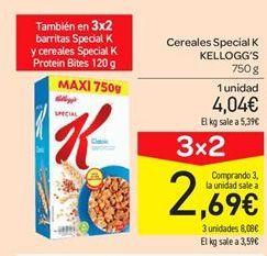 Oferta de Cereales Special K Kellogg's por 4.04€