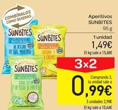 Oferta de Aperitivos sunbites por 1.49€