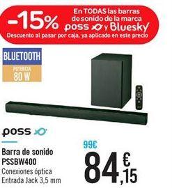 Oferta de Barra de sonido PSSBW400 por 84.15€