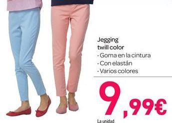 Oferta de Jegging twill color por 9.99€